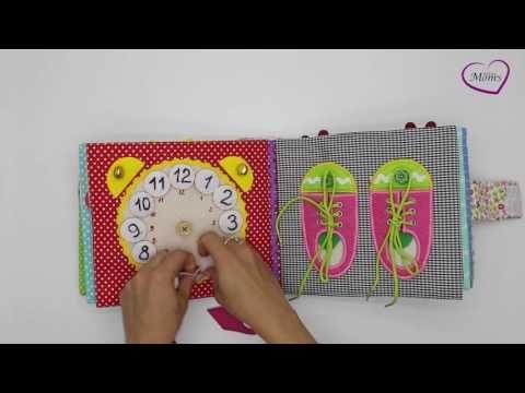 Children's Quiet Book, Busy Book, Eco friendly, soft book, cloth book - MiniMom's - - YouTube