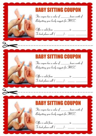 Babysitting Coupon Book Template 9