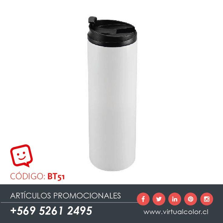 Artículos Promocionales - Productos Publicitarios - Botella Térmica Blanca