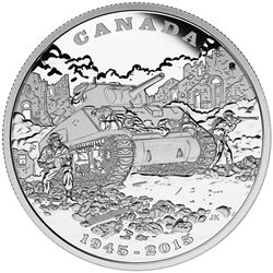 2015 $20 fine silver coin - 70th Anniversary of the End of the Italian Campaign.