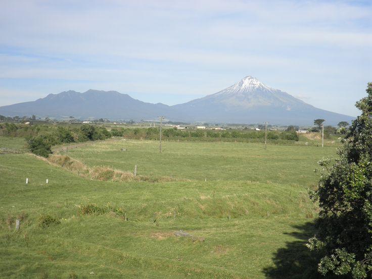 Mount Egmont (or Mount Taranaki) and the Pouakai range from Stent Road.