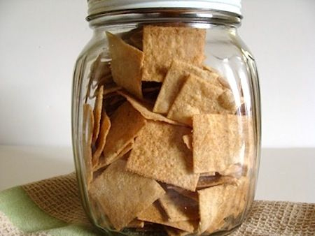 Sourdough Whole Wheat Crackers are surprisingly easy to make, use that small amount of sourdough you're always looking to use up and take only about an hour. But the main thing is - they're delicious! An Oregon Cottage