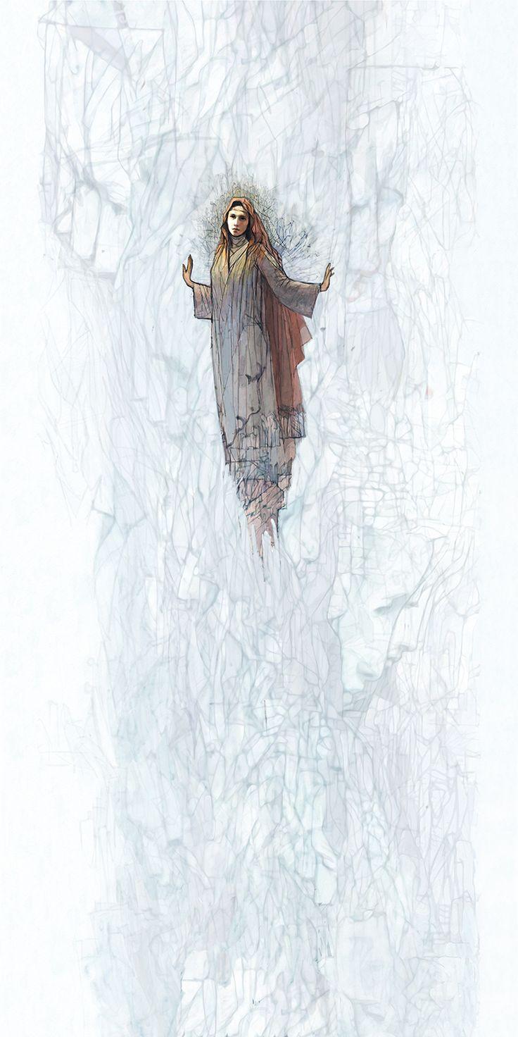Nyéki Mária (Mária mennybevétele) / Nanebevzatie Márie, mennyezet secco / stropné seko, 20mx10m