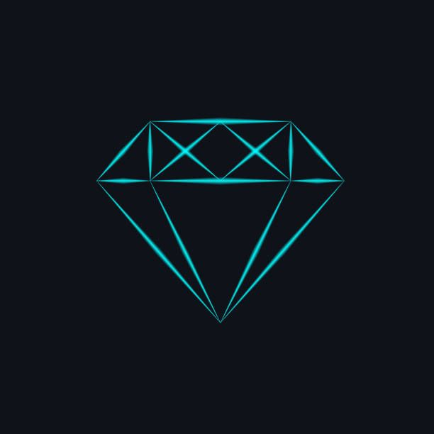 Neon Diamond On Black Background Vector Illustration In 2020 Diamond Wallpaper Iphone Wallpaper Sky Diamond Vector