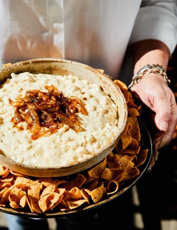 Corn Dip Recipe. Here are some simple tips from entertaining expert Vera Stewart — and four easy recipes — to ensure your get-together is a smashing success! Image: Peter Frank Edwards