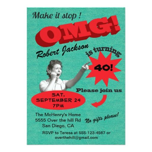 Best 421 Funny Birthday Party Invitations Images On