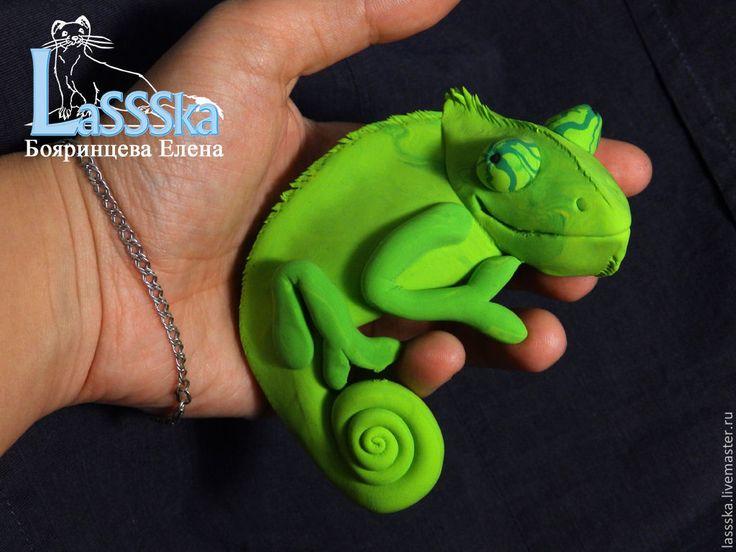 Подвеска на монитор хамелеон, бархатный пластик, ящерица – купить в интернет-магазине на Ярмарке Мастеров с доставкой