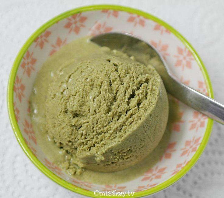 Matcha Eis (Paleo/keto) • misskay.tv *** Paleo Matcha Ice Cream*** Sugarfree, glutenfree, diaryfree!