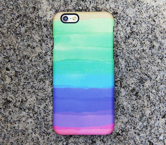 Rainbow Color iPhone 6s case iPhone 6 plus Green iPhone 5S 5 iPhone 5C iPhone 4S/4 Case Purple Samsung Galaxy S6 edge S6 S5 S4 S3 Case 038