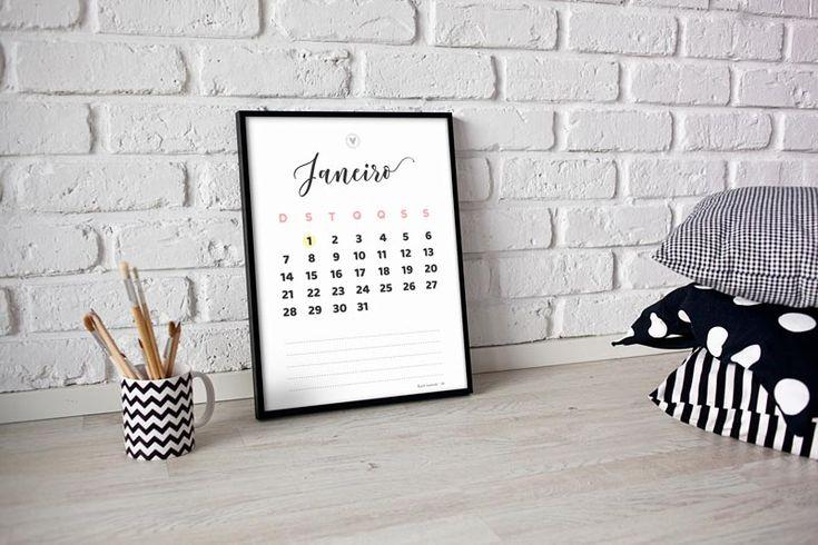 download de calendário 2018   calendário grátis  http://www.blogdocasamento.com.br/download-de-calendario-2018/