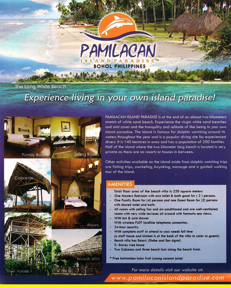 Services - Pamilacan Island Paradise | Panglao Island Beach Resort, Bohol Philippines
