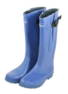 midnight blue extra wide fit wellies