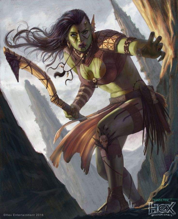 HEX - Orc female Rogue by rafater by rafater.deviantart.com on @DeviantArt