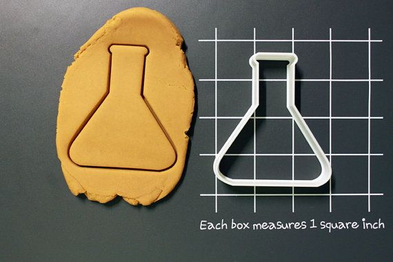 Beaker Science Tools Glassware Cookie Cutter Made to order I0117 on Etsy, $6.55 AUD