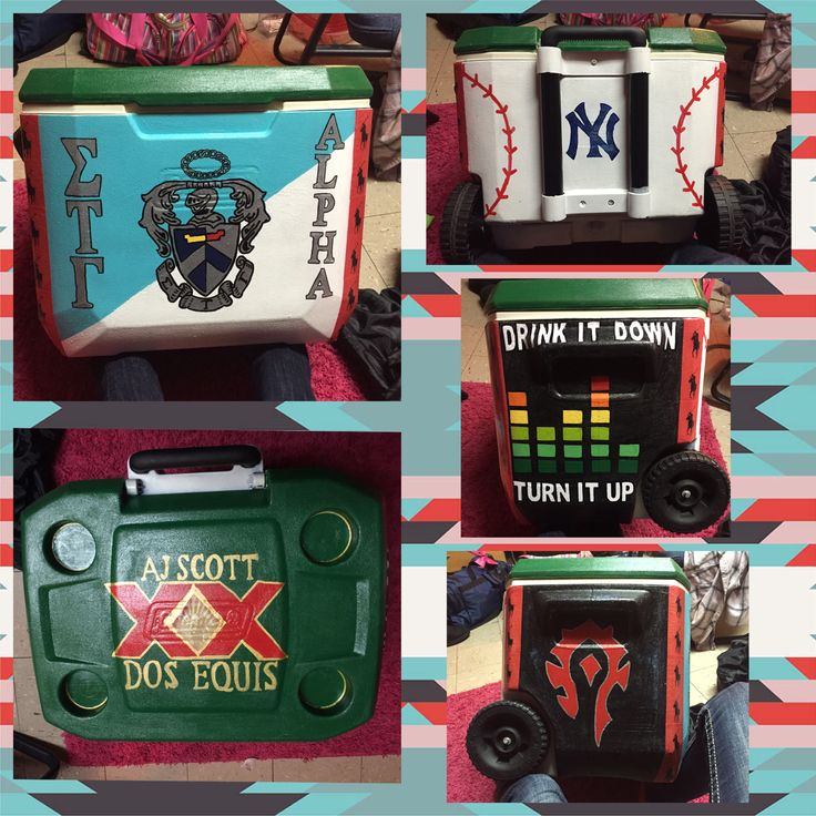 Fraternity cooler, Sigma Tau Gamma, Alpha Chapter. Dos Equis, Music, Baseball, Horde.
