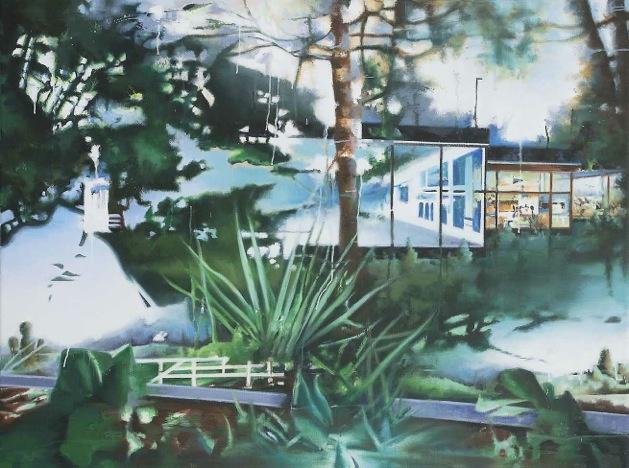 Henk van den Bosch, Instroom, 2012. Olie op doek, 90x120cm