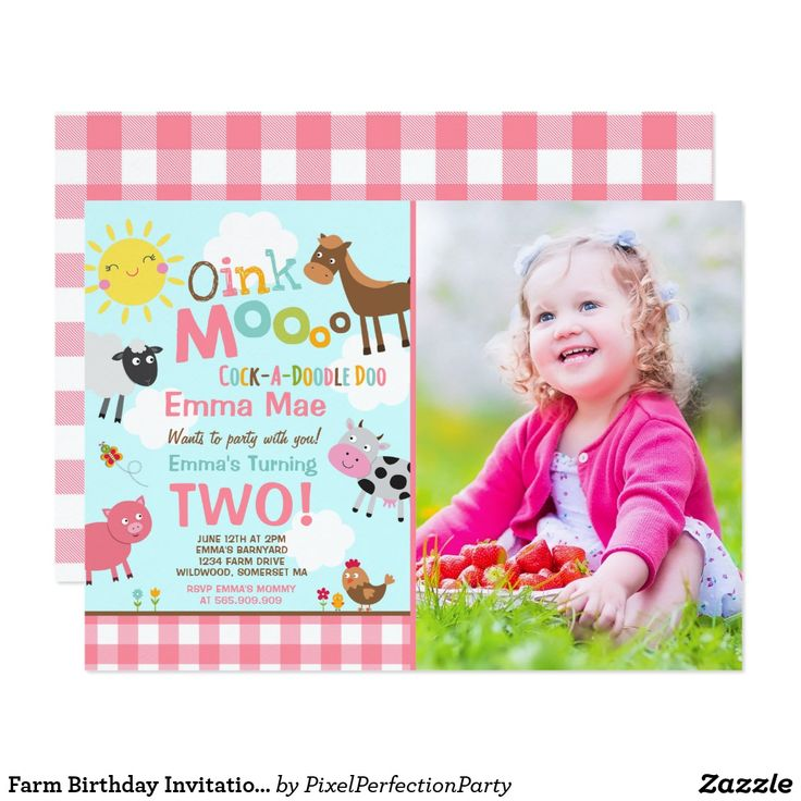 53 best Farm Birthday Party Invitations & Party Ideas images on ...