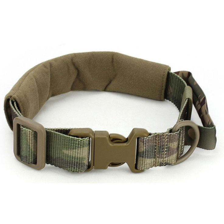 Your dog will look as fetching as his master in this camo-styled collar with quick release and convenient handle. Can be adjusted for medium to large dogs.