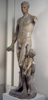 """""""Paris y Eros"""", Anónimo, Ca.150 / siglo XVII, Mármol"""