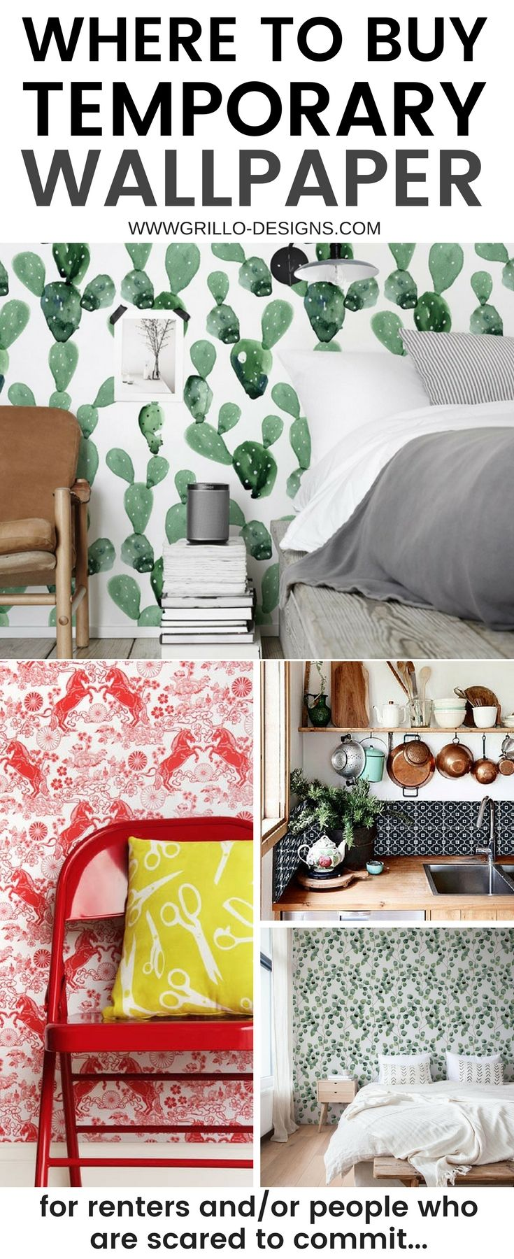 The Best Places To Buy Temporary Wallpaper Online Temporary Wallpaper Removable Wallpaper For Renters Apartment Decorating Rental
