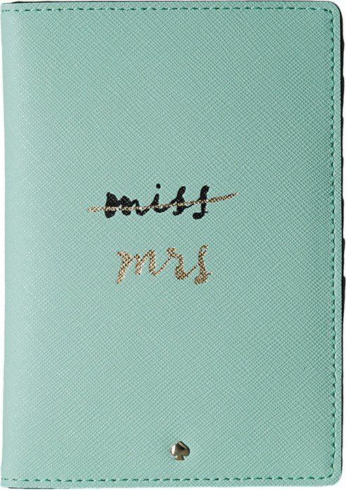 Kate Spade New York Women's Wedding Belles Travel Passport Holder Grace Blue 2 Luggage Accessory
