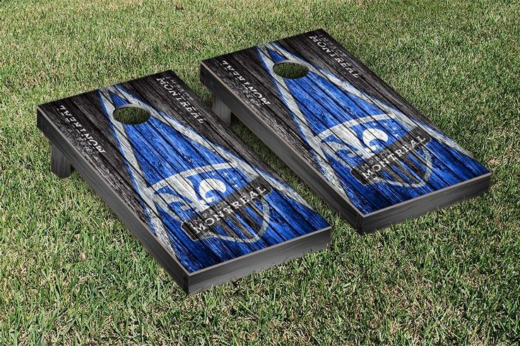 Montreal Impact MISC Cornhole Game Set Triangle Weathered Version