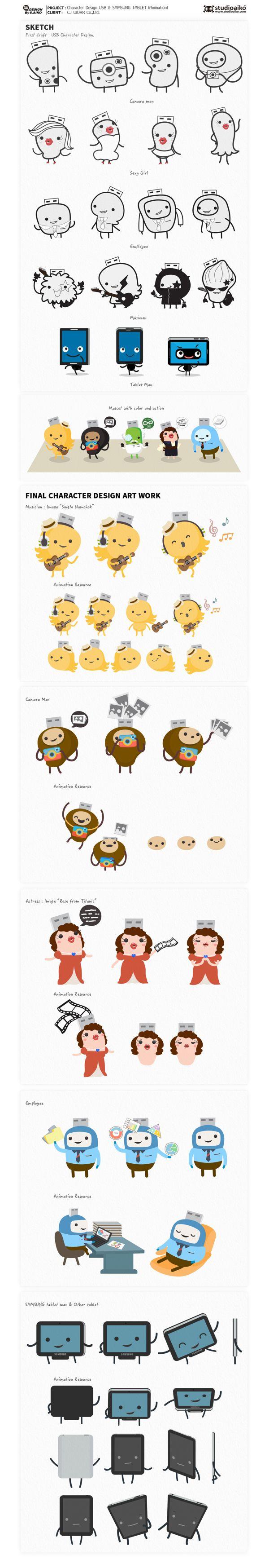 Character Design For Short music video on Behance