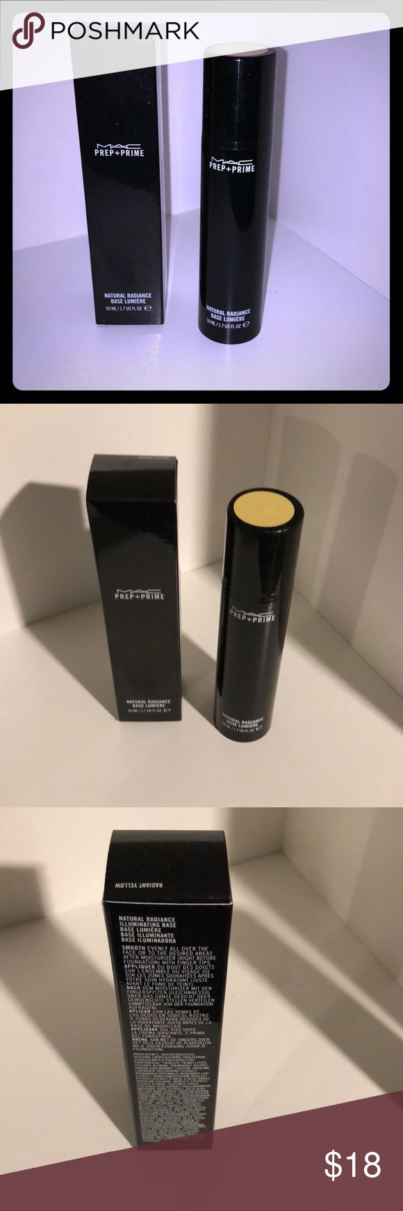 MAC Cosmetics Natural Radiance Primer Authentic MAC Cosmetics natural radiance primer in color radiant yellow. Brand new, in box. *price is firm* MAC Cosmetics Makeup