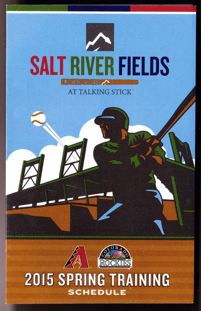 2015 SALT RIVER FIELDS SPRING TRAINING BASEBALL POCKET SCHEDULE ARZONA ROCKIES #SCHEDULE