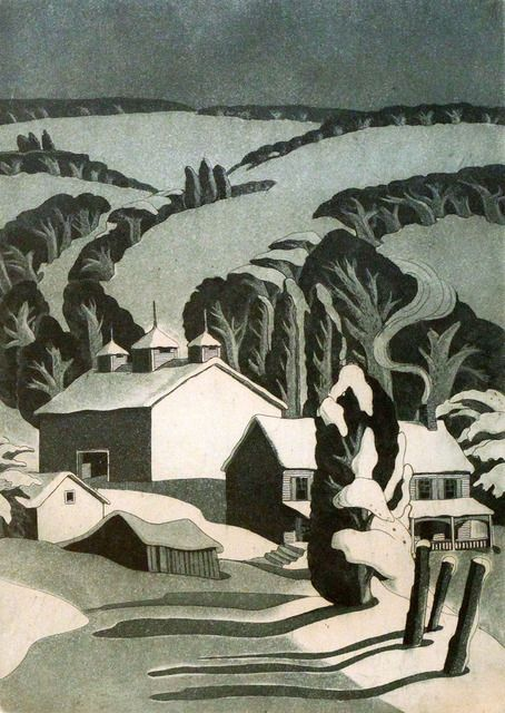 George Jo Mess1898-1962 Winter in the Hills