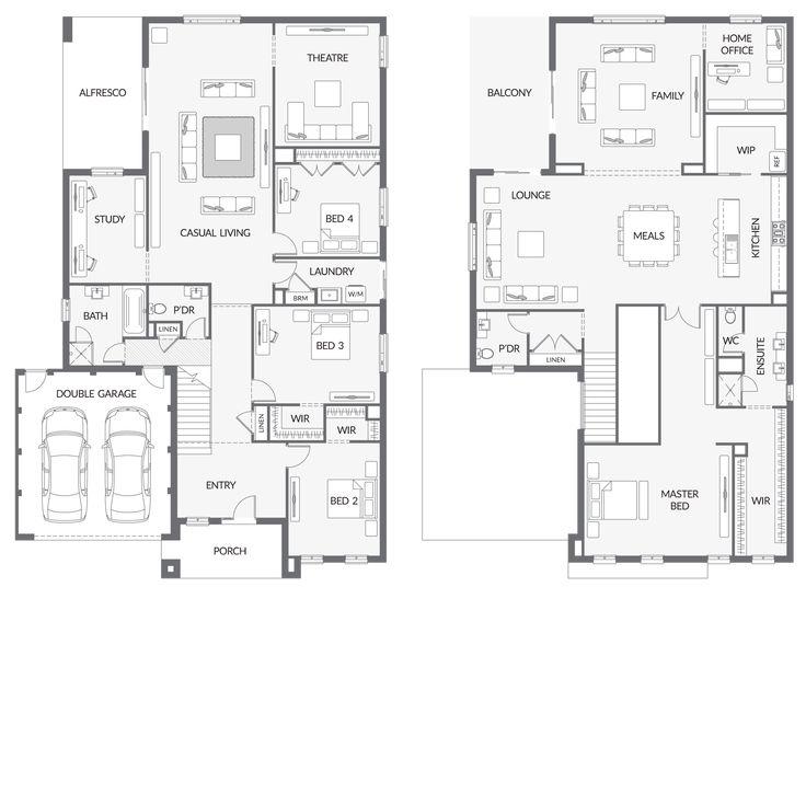 41 best reverse living house plans images on pinterest for Reverse living floor plans