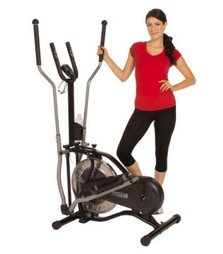 Elliptical Exercise Bike w/ Heart Pulse Monitor! Upright Stationary Bicycle Gym #Progear