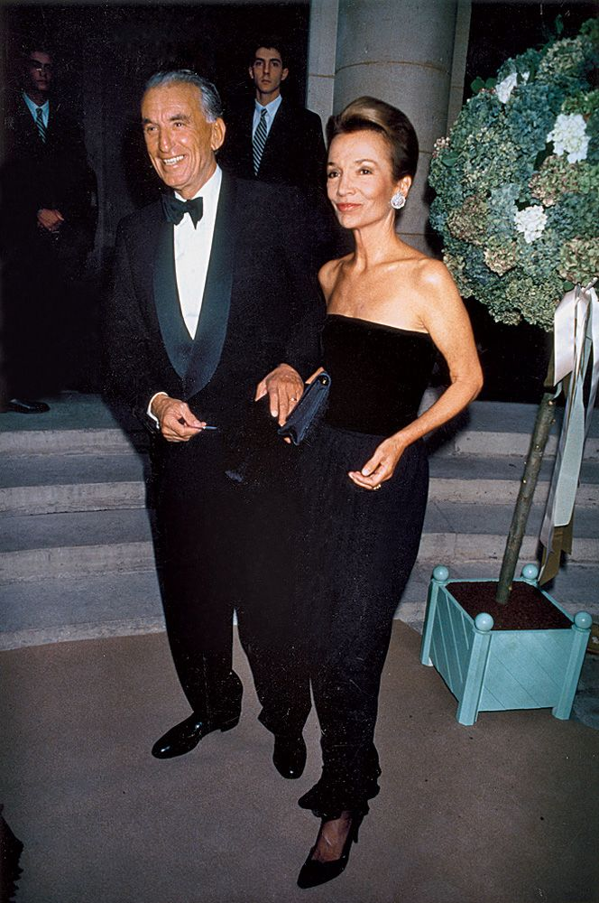 Lee Radziwill with her husband Herbert Ross at a Giorgio Armani party at the Musée Rodin in 1989. Courtesy Of Lee Radziwill.