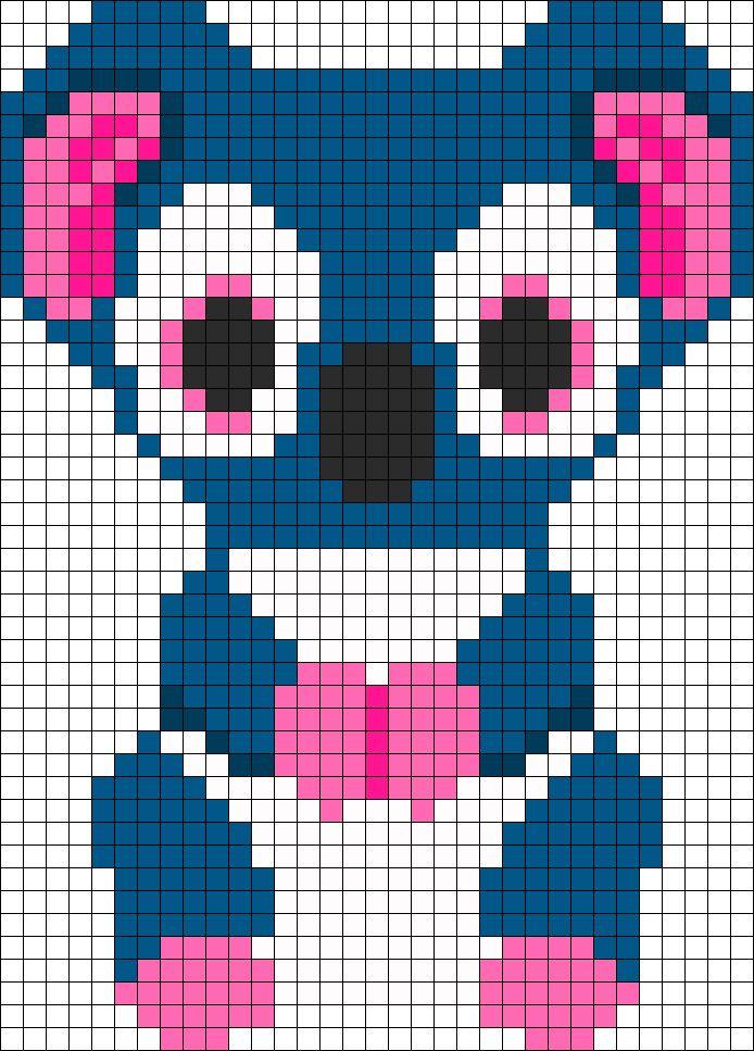 Kooky Koala Beanie Boo Perler Bead Pattern | Bead Sprites | Animals Fuse Bead Patterns