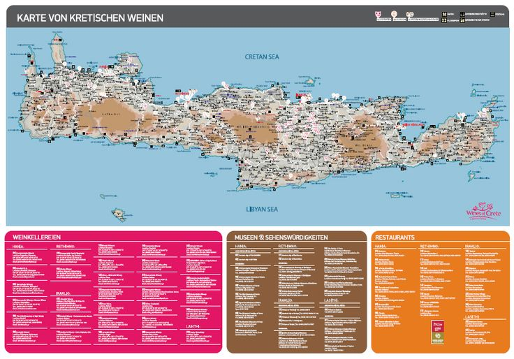 Wines of Crete map in German! Download the map here: http://goo.gl/MwZ5hN