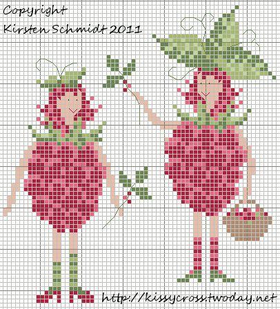 Raspberry Twins     punto de cruz