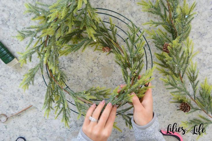 how to make a christmas wreath with christmas balls