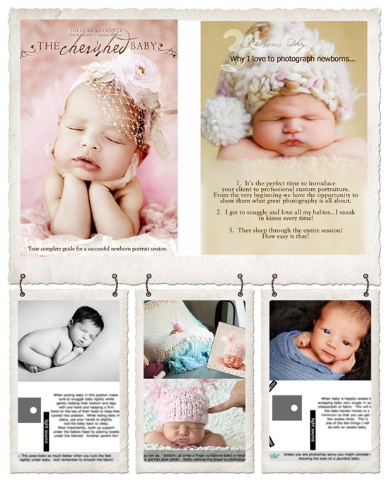 The Cherished Baby - Newborn Posing Guide by Julie Klaasmeyer at Design Revolution Online