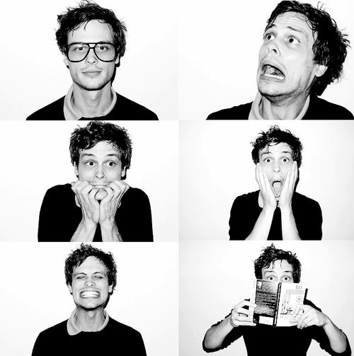 So adorkable! Matthew Gray Gubler, I will be your girlfriend.