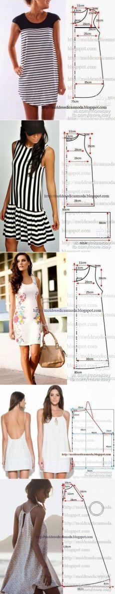 Otra colección de vestidos muy sencillos patrones de verano. - Decoración con las manos