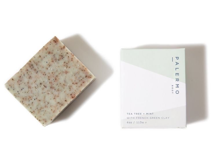 Tea Tree + Mint Soap // with French Green Clay by PalermoBody on Etsy https://www.etsy.com/listing/65856887/tea-tree-mint-soap-with-french-green