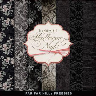 Far Far Hill: New Freebies Kit of Paper - Halloween Night