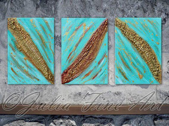 JuliaApostolova - Abstract triptych original painting #home #design #homedesign #painting #interior #art #sisustus #taide #taulu #sisustaminen #sisustusidea #interiordesign #inredning