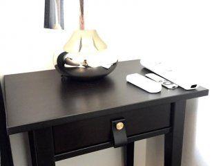 Sängbord, Hemnes med läderstrap DIY