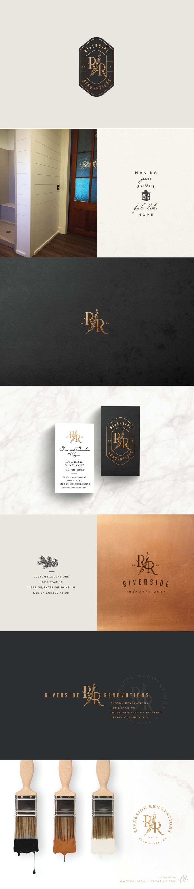 Logo and branding design for a renovation company by Calico Hill Creative.