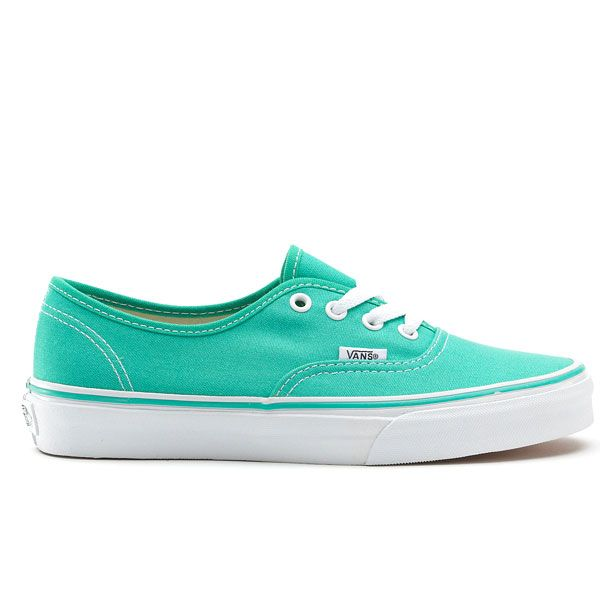 Vans Shoes for Girls | Vans Canvas Authentic Girls Shoes Pool Green/True White