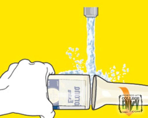 4eme étape pour fabriquer un verre avec une bouteille ;-)