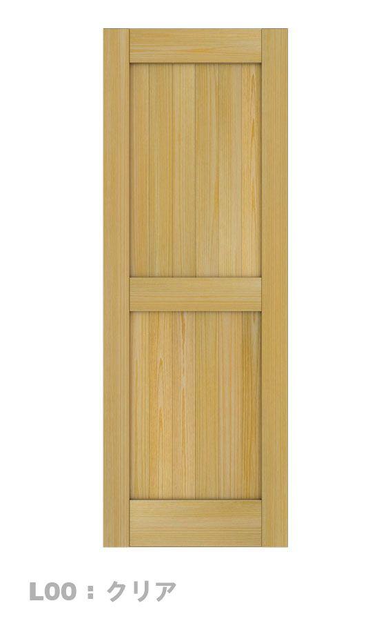 寝室ドアの基本形、上部中央部に和紙を貼って仕上げる?