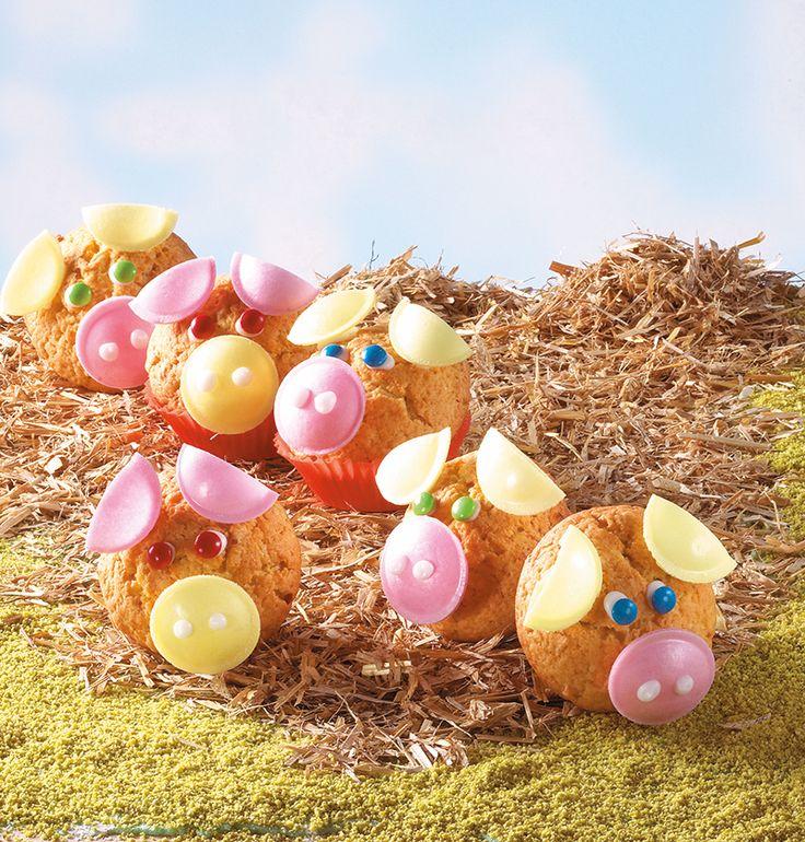 Süße Glücksschweinchen für Kinder - Für den nächsten Kindergeburtstag sind diese Muffins genau richtig
