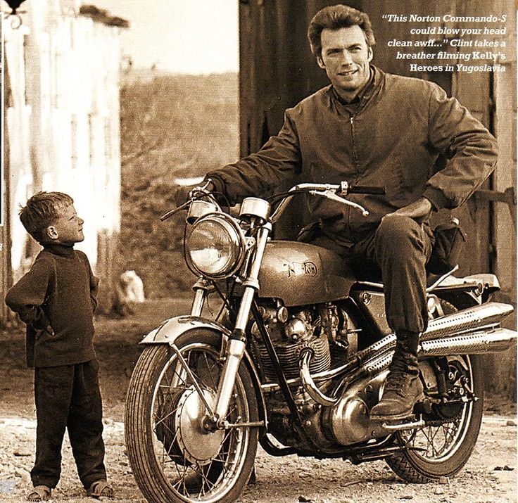 Clint Eastwood was well known for his love of cars and motorcycles in the '60s and '70s, he especially loved British marques like Jaguar, Austim Healy and motorcycle marque Norton.